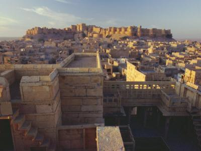 View of Jaisalmer Fort, Built in 1156 by Rawal Jaisal, Rajasthan, India by John Henry Claude Wilson