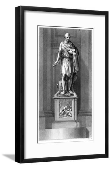 John Howard Statue--Framed Giclee Print