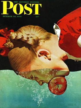 """""""Bobbing for Apples,"""" Saturday Evening Post Cover, October 30, 1943 by John Hyde Phillips"""