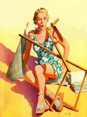 """""""Broken Beach Chair,""""August 12, 1939 by John Hyde Phillips"""