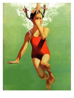 """""""Dunked Under Water,"""" August 9, 1941 by John Hyde Phillips"""