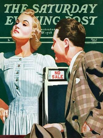 """'No Sale',"" Saturday Evening Post Cover, May 6, 1939 by John Hyde Phillips"
