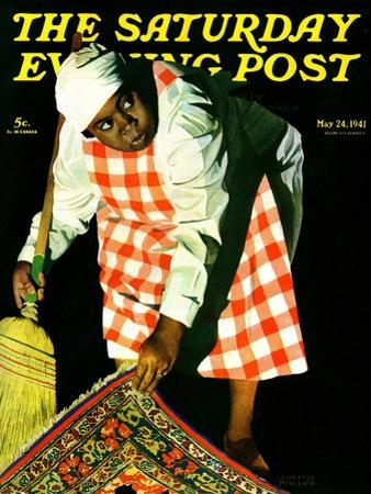 """Sweep it Under the Rug,"" Saturday Evening Post Cover, May 24, 1941 by John Hyde Phillips"