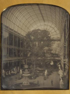 The Crystal Palace at Hyde Park, London by John Jabez Edwin Mayall by John Jabez Edwin Mayall
