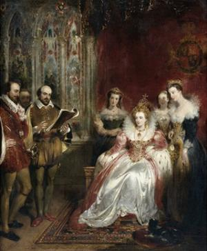 Shakespeare Reading to Queen Elizabeth I by John James Chalon