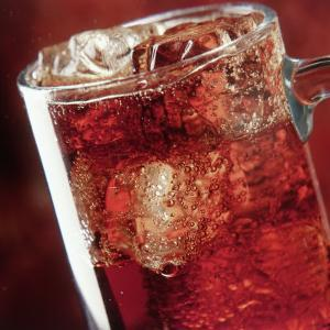 Glass of Cola Drink with Ice by John James Wood
