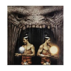 Twin Brothers from the Mayan Legend of Creation by John Jude Palencar