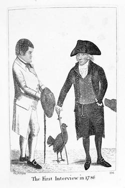 The First Interview in 1786' Between Deacon Brodie and George Smith, 1788 by John Kay