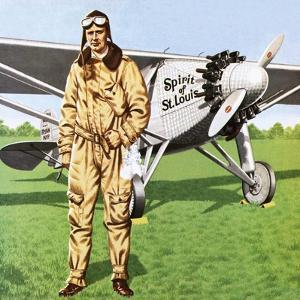 Charles Lindbergh and the Plane in Whch He Flew across the Atlantic, Solo. by John Keay