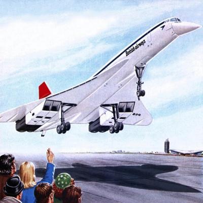 Concorde Landing in New York on 22 November 1977 by John Keay