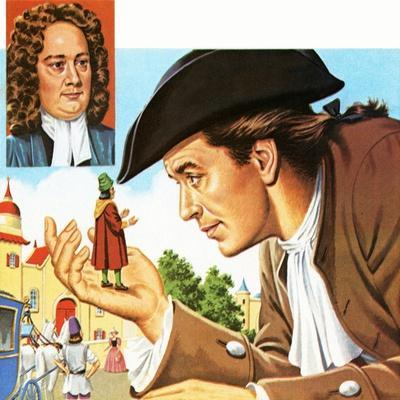 Gulliver's Travels, with Inset of its Author Jonathan Swift