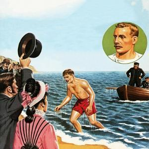 Matthew Webb, the First Man to Swim the English Channel in August 1875 by John Keay