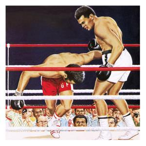 Muhammad Ali Regaining His Crown in the Fight Against George Foreman in 1974 by John Keay