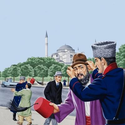 Replacing the Traditional Fez in Turkey by John Keay