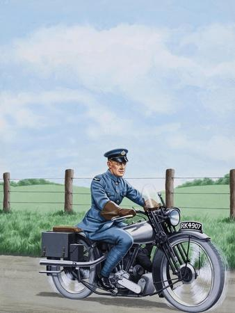 T E Lawrence on His Motorcyle
