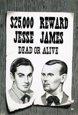 Wanted Poster For Jesse James by John Keay