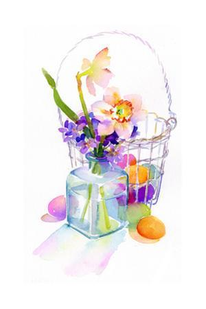 Egg Basket with Flowers, 2014 by John Keeling
