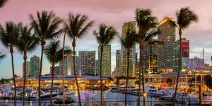 Miami, Bayside Shopping Mall at Dusk by John Kellerman