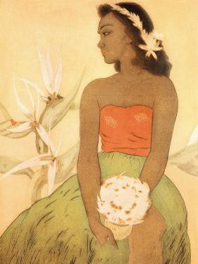 Hula Dancer, Royal Hawaiian Hotel Menu Cover c.1950s by John Kelly