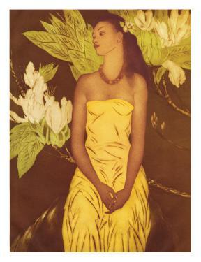 Meleana, Christmas Card from The Honolulu Star Bulletin, c.1950 by John Kelly