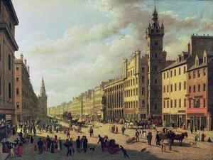 The Trongate, Glasgow, 1826 by John Knox