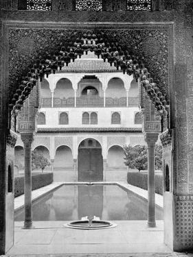 Court of the Myrtles, Alhambra, Spain, 1893 by John L Stoddard