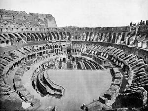 Interior of the Colosseum, Rome, 1893 by John L Stoddard