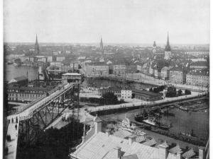 Panorama of Stockholm, Sweden, Late 19th Century by John L Stoddard