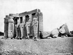 Ruins, Thebes, Egypt, 1893 by John L Stoddard