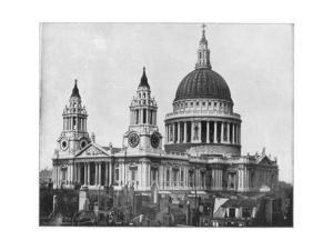 St Paul's Cathedral, London, Late 19th Century by John L Stoddard