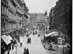 The Graben, Vienna, Late 19th Century by John L Stoddard