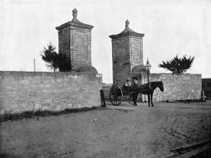 The Old City Gate, St Augustine, Florida, USA, 1893 by John L Stoddard