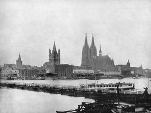 The Rhine at Cologne, Germany, 1893 by John L Stoddard
