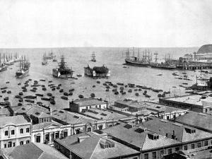 Valparaiso Harbour, Chile, 1893 by John L Stoddard
