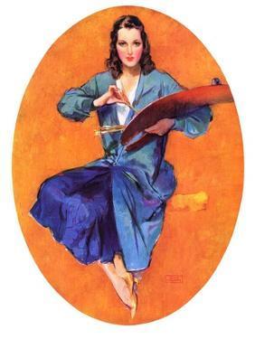 """""""Artist and Her Palette,""""September 9, 1933 by John LaGatta"""
