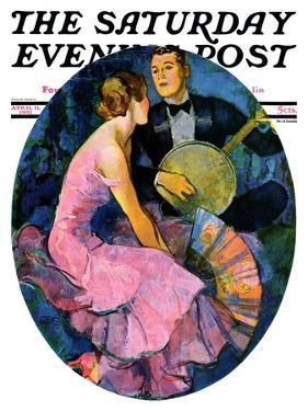 """Banjo Serenade,"" Saturday Evening Post Cover, April 11, 1931 by John LaGatta"