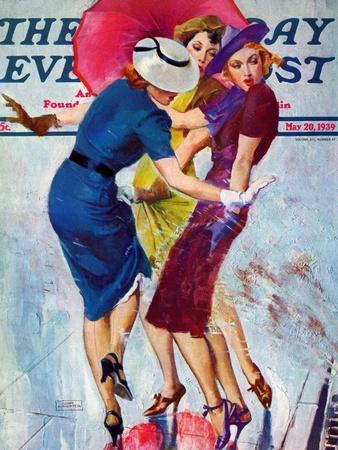 """""""Splashed,"""" Saturday Evening Post Cover, May 20, 1939"""