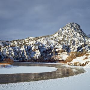 Winter Morning Along the Missouri River Near Hardy, Montana by John Lambing