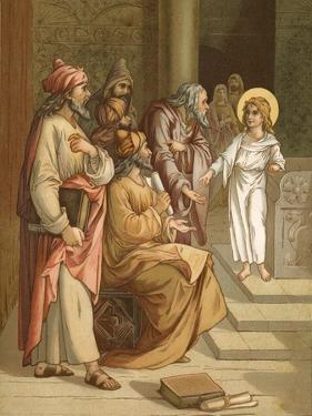 Jesus, as a Boy, in the Temple by John Lawson