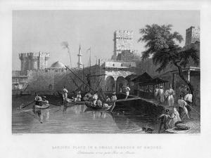 A Landing Place in a Small Harbour at Rhodes, Greece, 1841 by John Le Keux