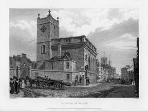 Church of St Peter Le Bailey, Oxford, 1835 by John Le Keux
