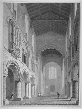 Interior View of the Church of St Bartholomew-The-Great, Smithfield, City of London, 1815 by John Le Keux