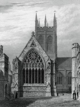 Merton College Chapel, from the Quadrangle, Oxford, 1834 by John Le Keux