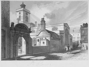 South-East View of the Church of St Olave, Hart Street, City of London, 1837 by John Le Keux