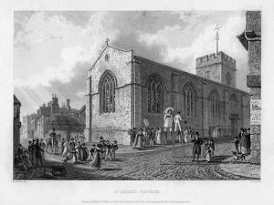 St Ebbe's Church, Oxford, 1835 by John Le Keux