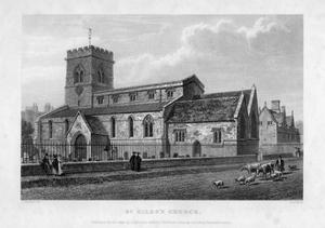St Giles's Church, Oxford, 1834 by John Le Keux