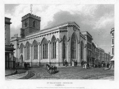 St Martin's Church, Carfax, Oxford, 1835
