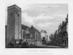 St Michael's Church, Oxford, 1834 by John Le Keux