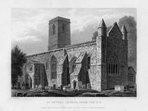St Peter's Church, from the South-East, Oxford, 1833 by John Le Keux
