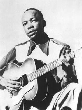 John Lee Hooker (1917-2001) American Blues Guitarist Here in 1947
